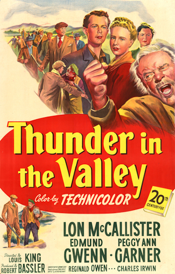 One Sheet for THUNDER IN THE VALLEY